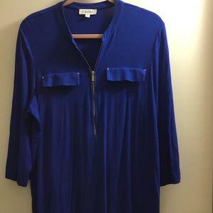 Blue 1X Calvin Klein blouse